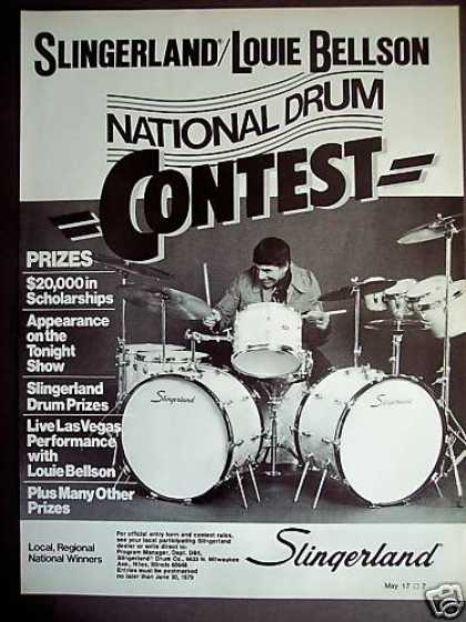 Louie Bellson Slingerland Drum Contest Photo (1979)