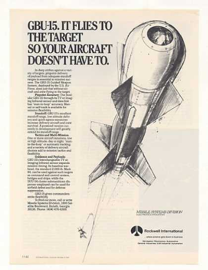 Rockwell GBU-15 Guided Weapon System (1987)