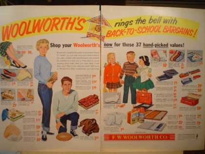 Woolworth's back to school bargains 2 page (1956)