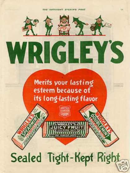 Wrigley's Chewing Gum Color (1920)