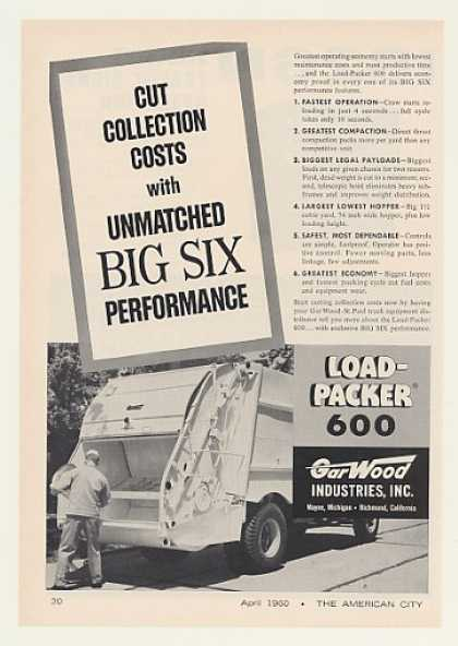 Gar Wood Load-Packer 600 Garbage Truck (1960)