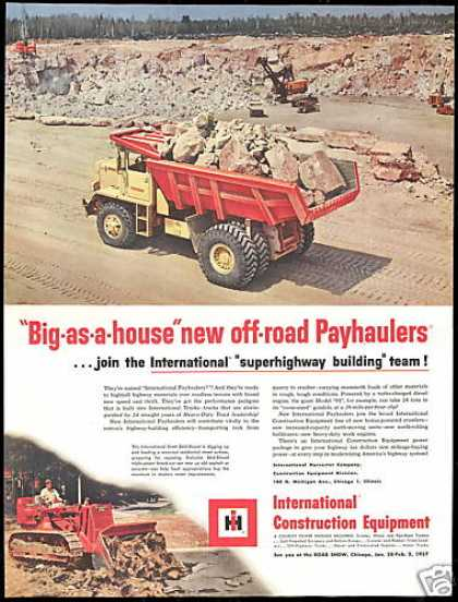 IHC International Skid Shovel Payhauler Truck (1956)