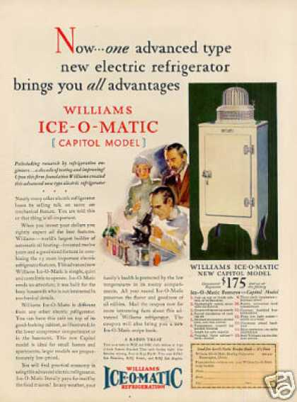 Williams Ice-o-matic Refrigerator Color (1930)