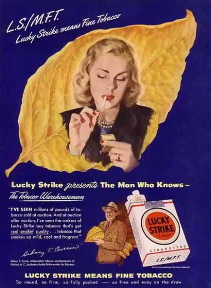 Lucky Strike Cigarette – Sidney T. Currin of Oxford, NC (1948)
