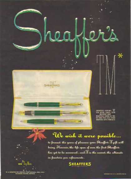 Sheaffer's Pen Christmas – We wish it were possible (1951)