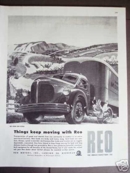 Reo Moving Van Truck Art (1945)