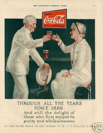 "Coca-cola Color Ad ""Through All the Years... (1926)"