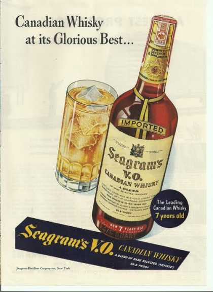Seagrams Vo Canadian Whisky (1942)