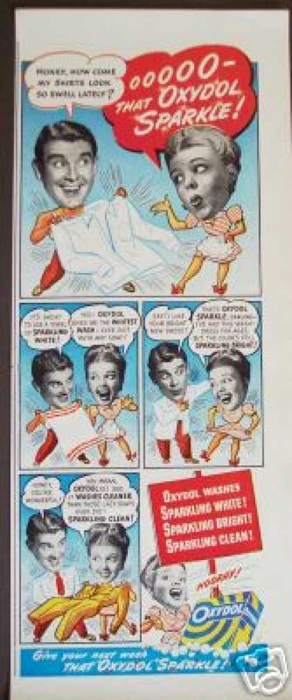 Original Oxydol Detergent Cartoon Art (1947)