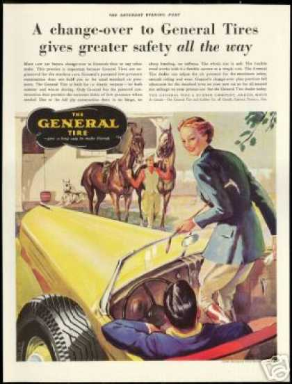 Horse Great Dane Equestrian General Tire Art (1937)