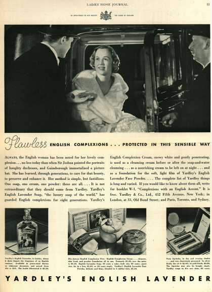 Yardley & Co., Ltd.'s Various – Flawless English Complexions...Protected In This Sensible Way (1932)