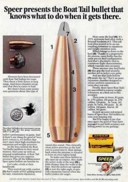 Speer Presents the Boat Tail Bullet (1981)
