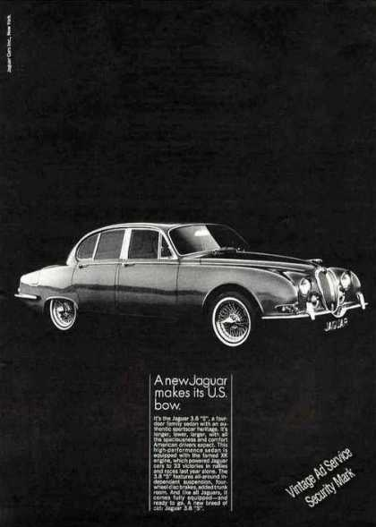 """A New Jaguar Makes Its Us Bow"" 3.8 's' Car (1964)"