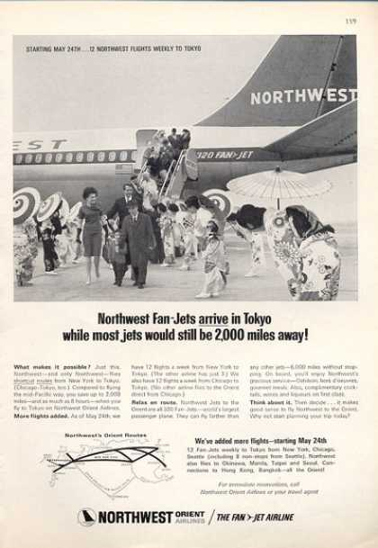 Northwest Orient Airlines Jet Plane (1964)