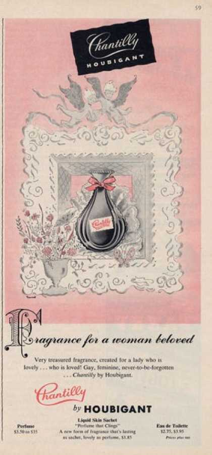 Chantilly Houbigant Fragrance Perfume (1955)