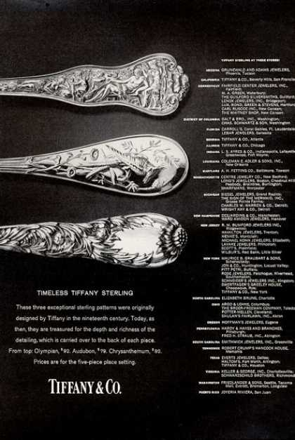 Tiffany Sterling Silverware 3 Patterns (1971)