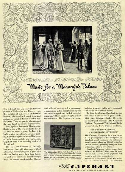 Capehart Corporation's DeLuxe Capehart – Music for Maharaja's Palace (1939)