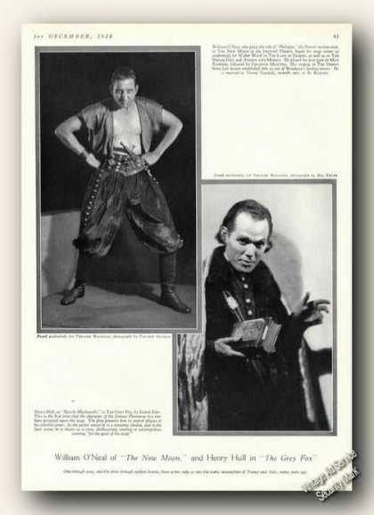 William O'neal/henry Hull Photos Print Feature (1928)