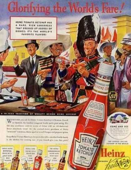 "Heinz Tomato Ketchup Ad ""Glorifying the World's... (1939)"