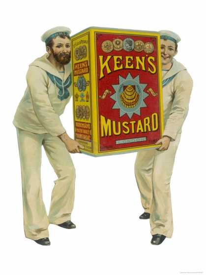 for Keen's Mustard Which Feature Two Sailors Carrying a Giant Tin