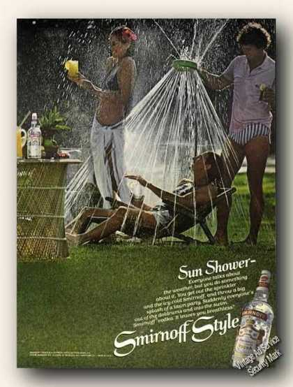 Smirnoff Vodka Sprinkling Girlfriend Sun Shower (1979)
