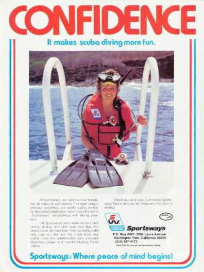 Sportsways Fins Snorkle Mask Woman Scuba Diver (1978)