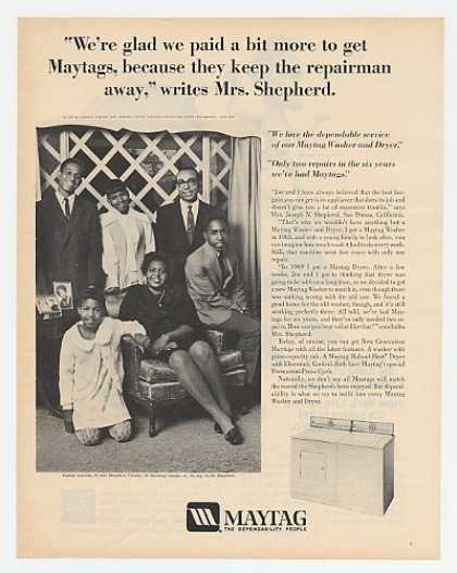 Shepherd Family San Dimas CA Maytag Washer (1972)