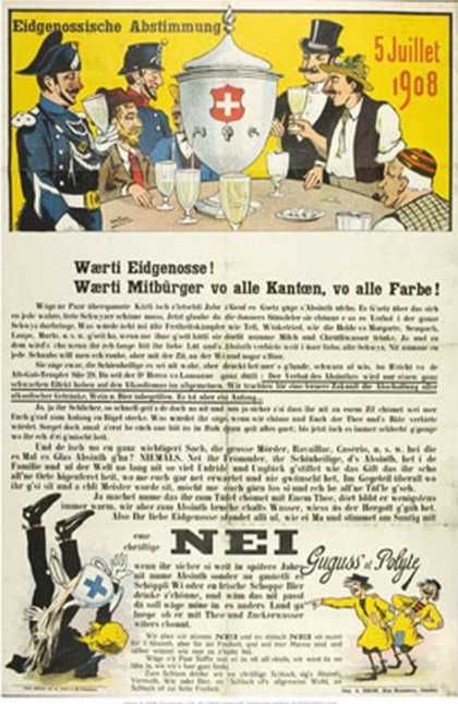 Swiss Anti-Absinthe Referendum (1908)