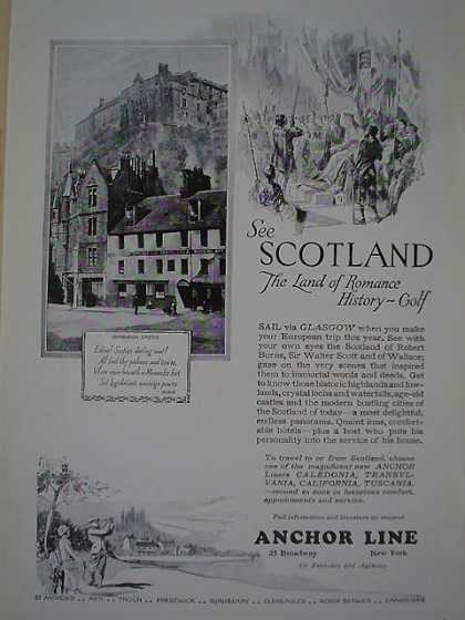 Anchor Line Cruise Scotland AND Frigidaire Refrigerator (1926)