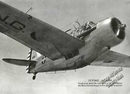 Illinois National Guard O-47a Airplane Print Photo (1939)