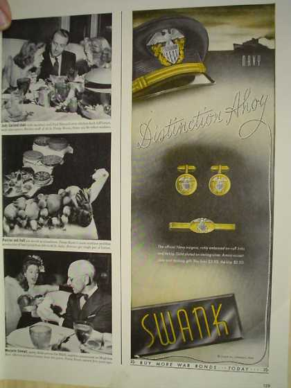 Swank Jewelry Distinction Ahoy Buy War Bonds (1943)