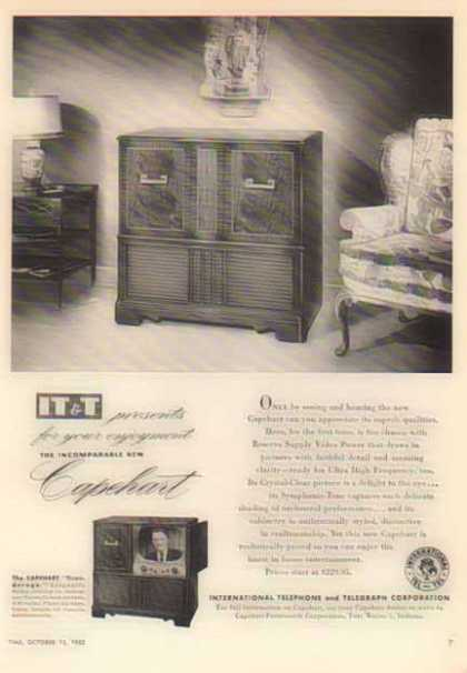 IT&T Capehart TV – Ticonderoga / Fort Wayne, Indiana (1952)