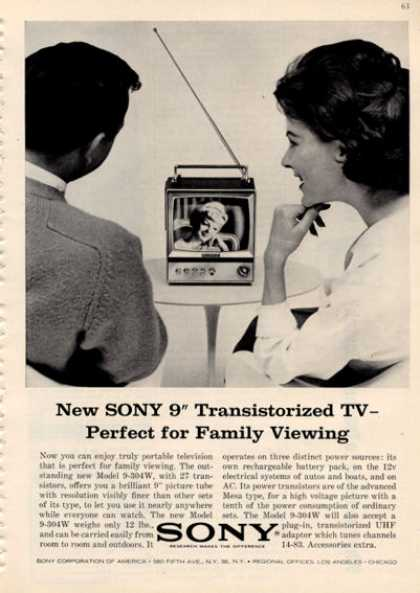 Sony Portable Transistor Tv Television (1964)