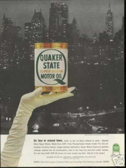 Midtown New York NYC Photo Quaker State Oil (1959)