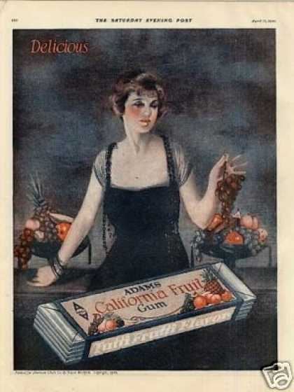 Adams California Fruit Gum Ad Neysa Mcmein Art (1920)