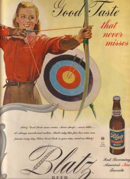 """Good Taste that never misses"" (1945)"