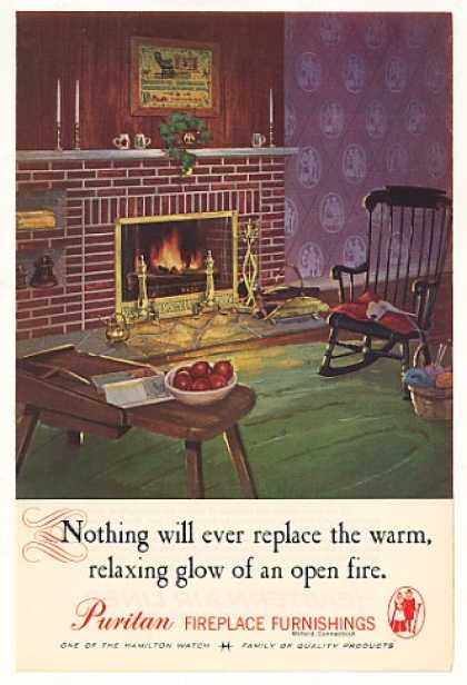 Puritan Fireplace Furnishings Warm Glow Fire (1961)