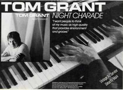 "Tom Grant Photo ""Night Charade"" Music (1987)"
