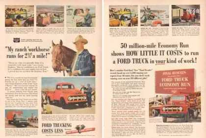 Ford Trucks Ads – F-5 & F3 – Set of 2 (1951)