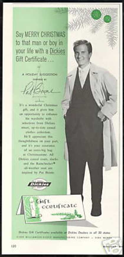 Pat Boone Photo Dickies Fashion GC Vintage (1959)