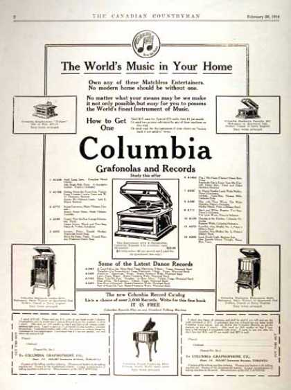 Columbia Grafonola (1914)