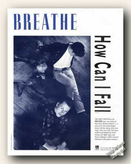 Breathe Photo Jazz Album Promo Advertising (1988)