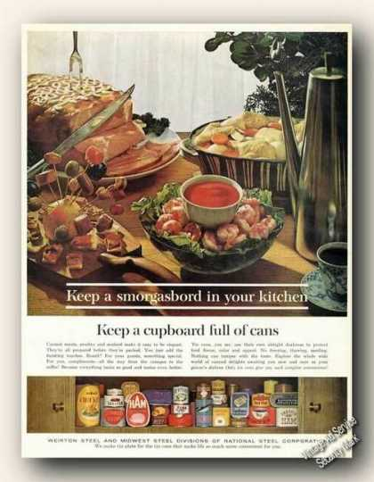 Keep Smorgasbord In Your Kitchen Weirton Steel (1962)