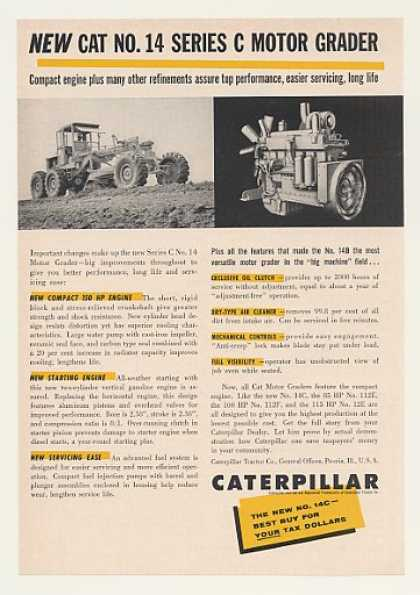 Caterpillar Cat No 14 Series C Motor Grader (1960)