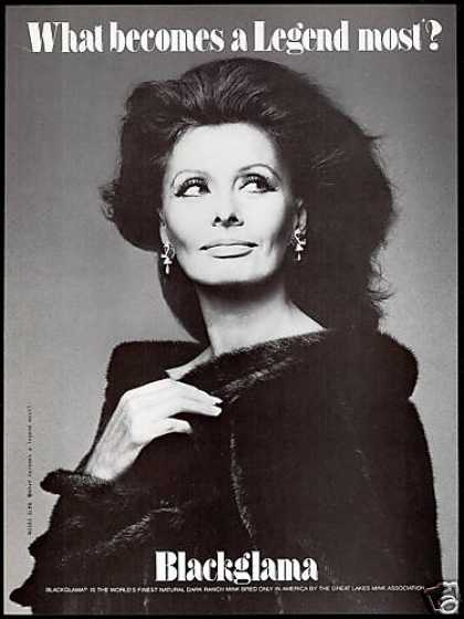 Sophia Loren Photo Blackglama Mink Fur Coat (1983)