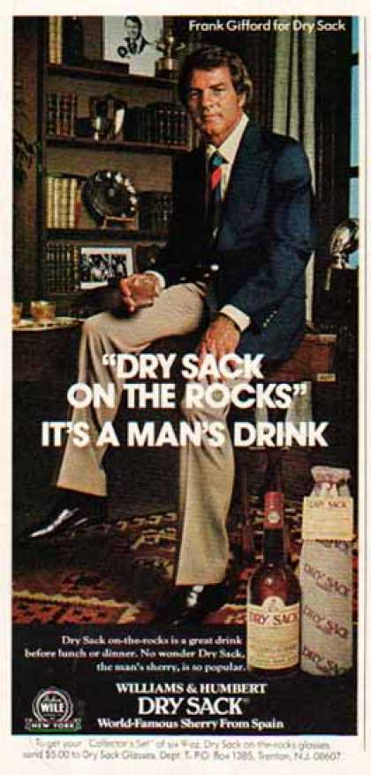 Williams & Humbert Dry Sack Sherry – Frank Gifford (1975)