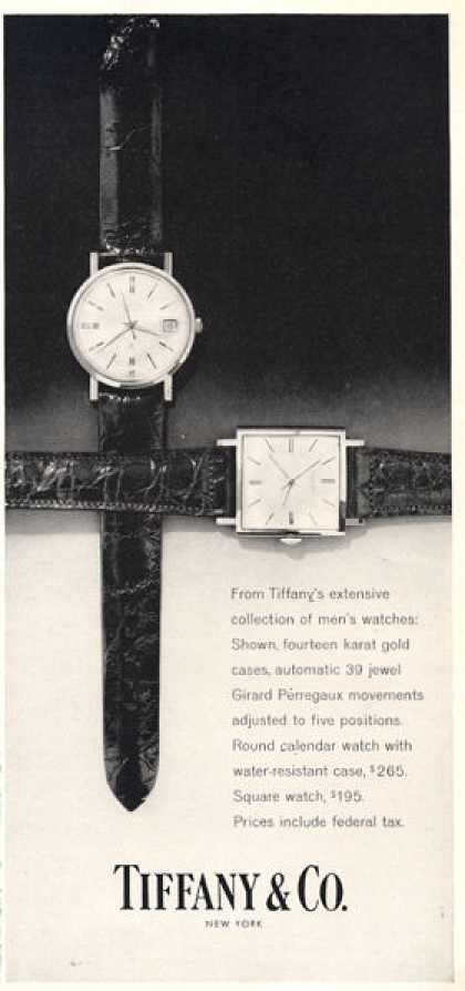 Tiffany Watch Girard Perregaux Movement (1962)