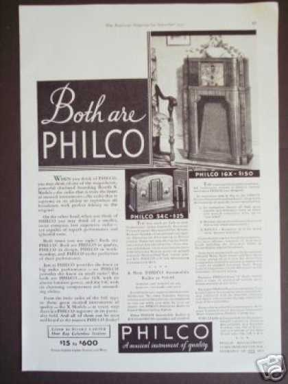 Philco 16x Console Radio 54c Table Model Photo (1933)