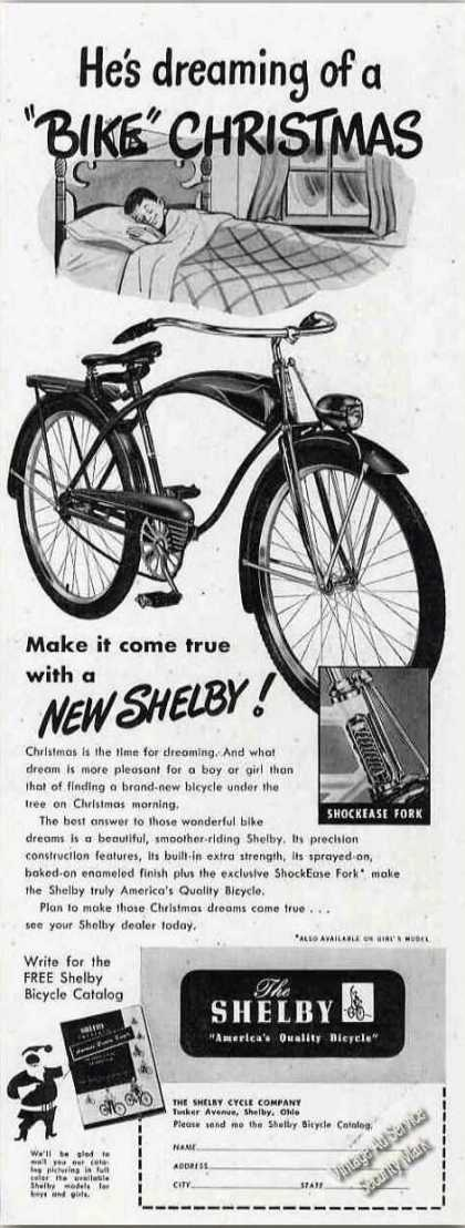 "Shelby ""He's Dreaming of a Bike Christmas"" (1947)"