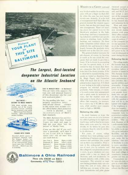 Baltimore & Ohio Railroad 1/2 Page (1956)